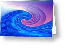 Tsunami Vi Greeting Card by Kenneth Armand Johnson