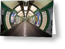 Tube Tunnel Greeting Card