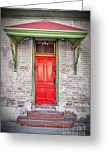 Tucson Red Door Greeting Card