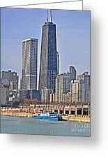 Tugboat On The Chicago River Greeting Card