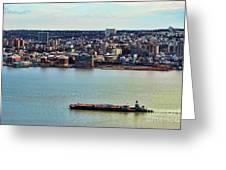 Tugboat On The Hudson Greeting Card