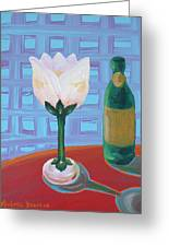 Tulip Champagne Greeting Card