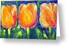 Tulip Gold Greeting Card