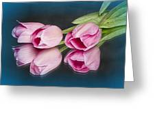 Tulips And Reflections Greeting Card