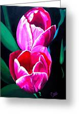 Tulips Greeting Card by Karen Casciani