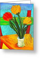 Tulips On A Chair Greeting Card