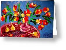 Tulips Vase Greeting Card