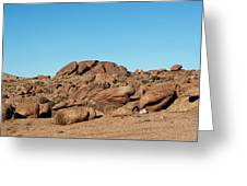 Tumbling Rocks Of Gold Butte Greeting Card