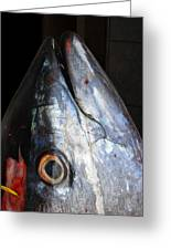 Tuna Head At Fish Market Greeting Card