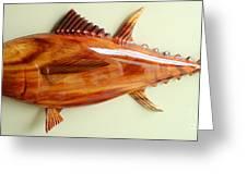 Tuna Sculpture Greeting Card