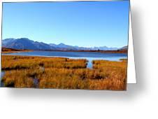 Tundra Lake Greeting Card