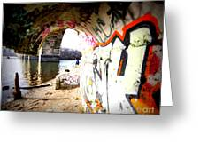 Tunnel Bridge River Fish Greeting Card