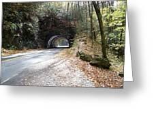 Tunnel Cades Cove Greeting Card
