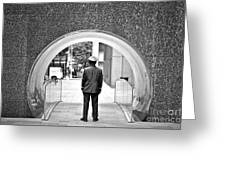 Tunnel Man Greeting Card