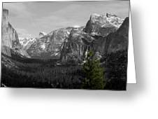 Tunnel View Selective Color Greeting Card