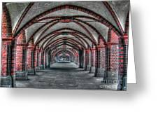 Tunnel With Arches Greeting Card
