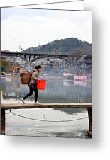 Tuojiang River In Fenghuang Greeting Card