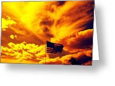 Turbulant America Greeting Card