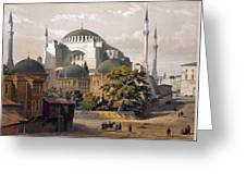 Turkey: Hagia Sophia, 1852 Greeting Card