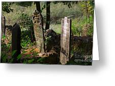 Turkish Cemetery In Rural Mugla Province Greeting Card