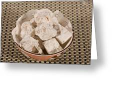 Turkish Delight In A Bowl Greeting Card