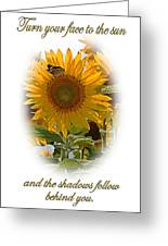 Turn Your Face To The Sun Greeting Card