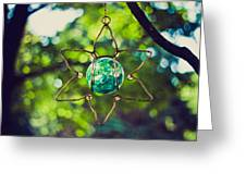 Turquoise Light Greeting Card