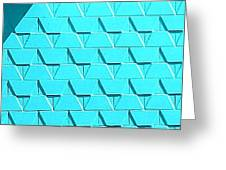 Turquoise Wall Greeting Card