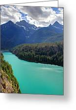 Turquoise Water Of Diablo Lake In The North Cascades Np Greeting Card