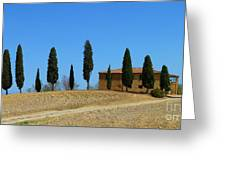 Tuscan House  I Cipressini/italy/europe  Greeting Card