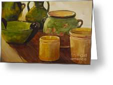 Tuscan Vases And Pots Greeting Card
