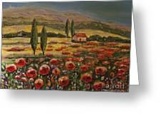 Tuscany And Texas 2 Greeting Card