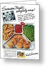 Tv Dinner Ad, 1963 Greeting Card