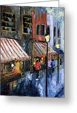 Twelve Street And Rine Greeting Card by Anthony Falbo