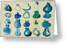 Twenty Blue Pots Greeting Card