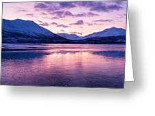 Twilight Above A Fjord In Norway With Beautifully Colors Greeting Card