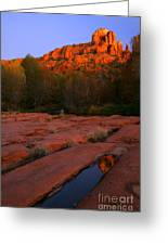Twilight Cathedral Greeting Card by Mike  Dawson