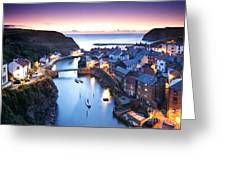 Twilight Glow Staithes Greeting Card