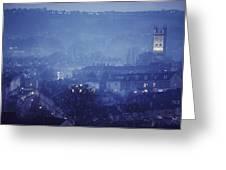 Twilight In Bath, England Greeting Card