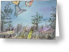 Twilight In The Garden Greeting Card by Dorothy Herron