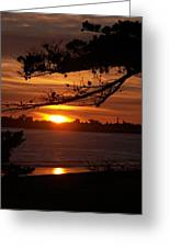 Twin Lakes Sunset Greeting Card
