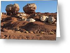 Twin Rocks Capitol Reef Np Greeting Card