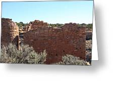 Twin Towers At Hovenweep Greeting Card