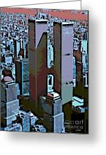 Twin Towers Greeting Card