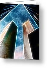 Twin Towers Greeting Card by Paul Ward