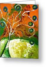 Twirl Pop Tree Greeting Card by Pretchill Smith