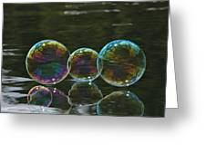 Two And A Half Bubbles Greeting Card