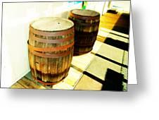 Two Barrels 2 Greeting Card