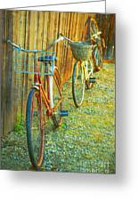 Two Bicyles Greeting Card