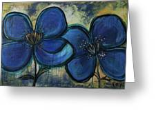 Two Blue Poppies Greeting Card